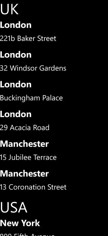 Windows Phone ListView and Grouping